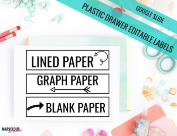 Large Plastic Drawer {Google Drive} Editable Labels