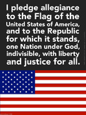 Large Pledge of Allegiance Classroom Poster