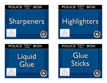 Large Police Box Label Set