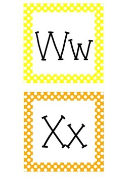 Large Polka Dot Alphabet Cards