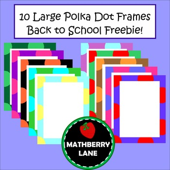Large Polka Dot Frames Borders Personal Educational Commer