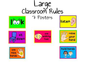 Large Pre-K/K Classroom Rules/Cues