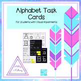 Large Print Alphabet Writing Practice Task Cards for Visua