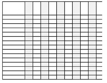 Large Print Landscape Checklist Printable