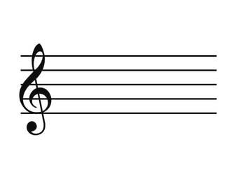 printable treble clef staff