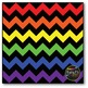 Large Rainbow Chevron {BLACK} Digital Papers {Commercial Use Digital Graphics}