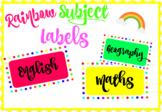 Large Rainbow Subject Labels -  Variety of Subjects