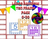 Large Rainbow Ten Frame Packet 0-20