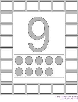 Large Rainbow Ten Frame Packet 0-20