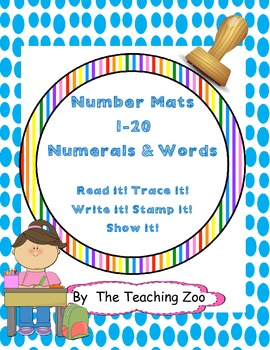 Large Number Words Mats & Books {Numbers 1-20}