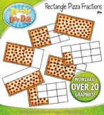 Rectangle Pizza Fractions Clipart {Zip-A-Dee-Doo-Dah Designs}