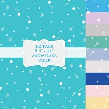 Large Round Snowflake Backgrounds - 10-Pack