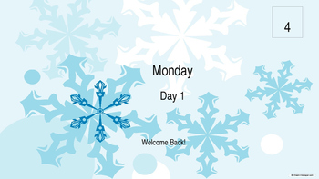 Large School January Wall Calendar