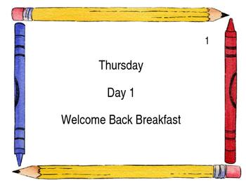 Large School June Wall Calendar 2016