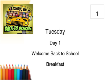 Large School September Wall Calendar