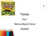 Large School September Wall Calendar