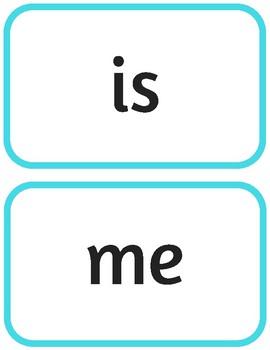 Large Sight Word Flashcards