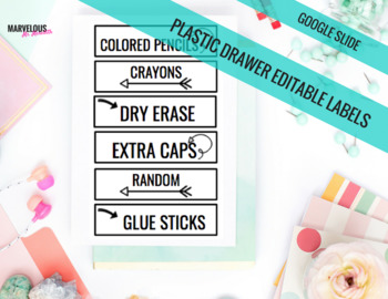 Large & Small Plastic Drawer {Google Drive} Editable Labels