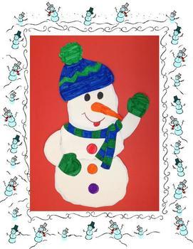 Large Snowman Art Project