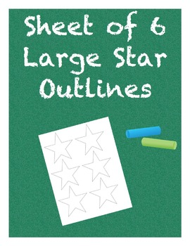 Large Star Outlines Sheet of 6