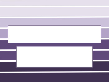 Large Stripe Purple Ombre PowerPoint Template