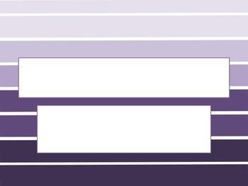 Large Stripe Purple Ombre PowerPoint Template