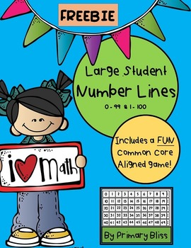 Large Student Number Lines with Common Core Aligned Game