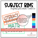 Large Subject Bin Lables