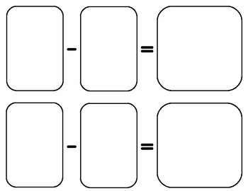 Large Subtraction Cards