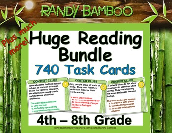Huge Reading Task Card Bundle (800 cards plus much more)