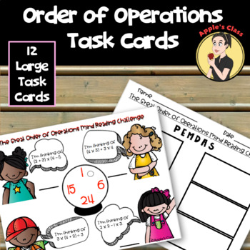 Order of Operations Review Task Cards