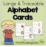 Large, Traceable-Font, Alphabet Cards