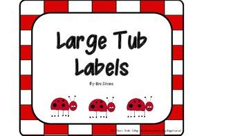 Large Tub Labels