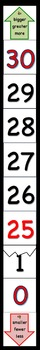 """Large Vert./Horiz. 0-30 Number Line -""""Happy Counting"""" in Engage NY & Eureka Math"""