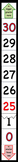 """Large Vert./Horiz. 0-30 Number Line -""""Happy Counting"""" in E"""