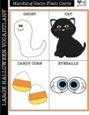 Large Vocabulary Cards for Halloween (Matching Game/Go-Fis