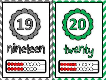 Large Wall 1-20 Numberline with Rekenreks