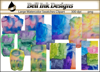 Large Watercolor Swatches Clipart