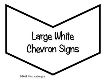 Large White Chevron Signs