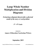 Large Whole Number Multiplication and Division Story Problem Group Diagrams
