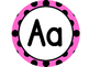 Large Word Wall Headers (Pink and Black Polka Dot Circles)