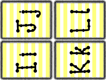 Word Wall Letters - Large Yellow Stripe Background