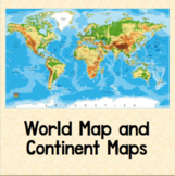 World Map and Continent Maps