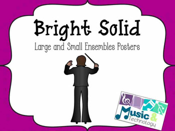 Large and Small Ensemble Posters- Bright Solid
