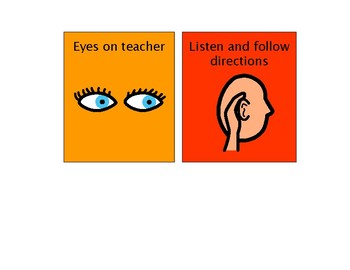 Large and Small Visual Classroom Rules
