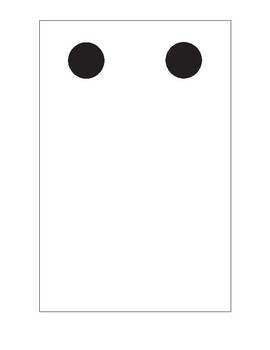 Large and Small dot cards - domino style 1-10