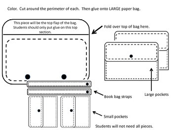 Large paper bag book bag craftivity
