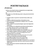 Large poetry unit package of great poems plus term assignments & projects