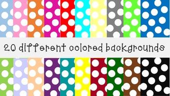 Large polka dot backgrounds