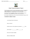 Large solar heated hot air balloons project